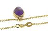 Great Cabachon Amethyst Yellow Gold Necklace