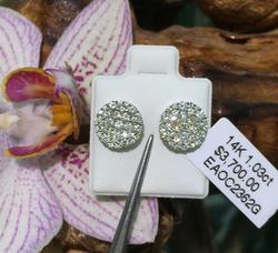 Stunning Diamond Earrings in 14kt Gold