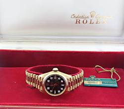 Rolex President Black Diamond Dial Watch