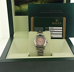 Rolex Oyster Perpetual w Pink Maxi Arabic Dial Watch