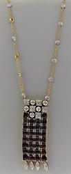 Uncomparable 18kt Garnet & Diamond Necklace