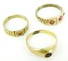 3 Antique Gold-Filled Baby Rings
