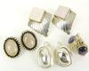 4 Pairs of Sterling Silver Earrings