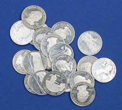 20 Assorted Silver State Quarters