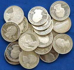 20 Assorted Proof Silver State Quarters
