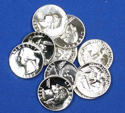 14 Choice Proof Quarters 7 1962 And 3 1960 And 4 1961