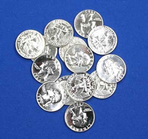 14 Assorted Silver Proof Quarters 1962-1964