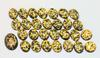 Vintage Natural 24k Gold in Resin Cabochons - Lot of 28