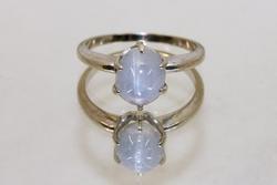 Natural Ceylon Star Sapphire Ring in 14k