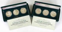 2 3 Piece 1994 Unc & Proof Vietnam War Silver Dollar Sets