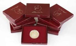 10 Proof 1982 S Washington Silver Comm Halves Box&Paper