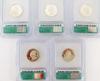 5 U.S. Silver Sate Quarters, Graded