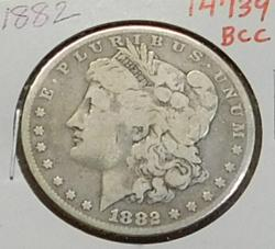 1882 Morgan  Dollar, circulated, original,