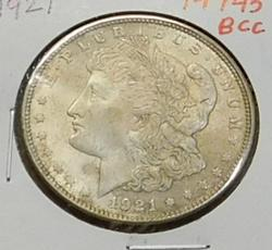 1921 Morgan  Dollar, circulated, original,