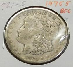 1921-S Morgan  Dollar, circulated, original,