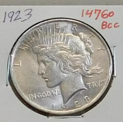 1923 Peace Dollar, circulated