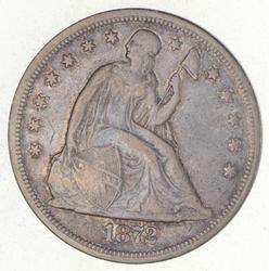 1872 Seated Liberty Silver Dollar