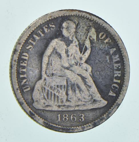 1863 Seated Liberty Dime