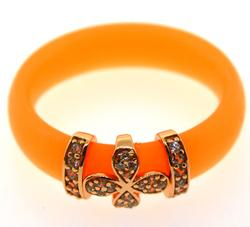 Preciosa 'A La Mode' Orange Clover Ring