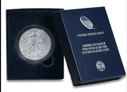2012-W BU SILVER EAGLE IN BOX W/ PAPERS