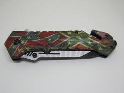 Snake Eye Tactical Recuse Style Spring Assist Knife