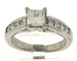 Dazzling Platinum Princess Cut Diamond Invisible Ring