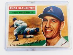 1956 Enos Slaughter A's Baseball Card