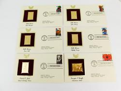 6 - 1996 1st Day Covers & 22KT Gold Stamps