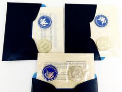3 Eisenhower Uncirculated Silver Dollars
