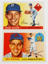 2 Topps 1955 Baseball Cards