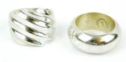 2 Vintage Sterling Silver Rings