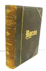1878 Byron's Poetical Works Antique Leather Book