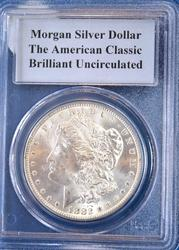 1882-CC MORGAN DOLLAR PCGS GRADED BRILLIANT UNCIRCULATED