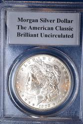 1902-O MORGAN DOLLAR PCGS GRADED BRILLIANT UNCIRCULATED