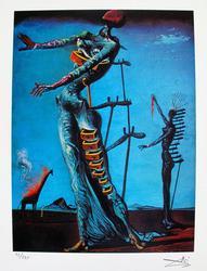 Salvador Dali, Burning Giraffe
