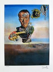 Salvador Dali, Portrait Of Paul Eluard