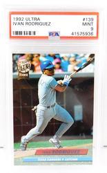 Ivan Rodriquez Rookie Baseball Card, Mint 9