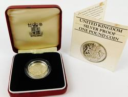 1983 United Kingdom Silver Proof One Pound Coin w/Box