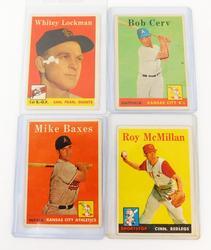 4 Topps 1958 Baseball Cards