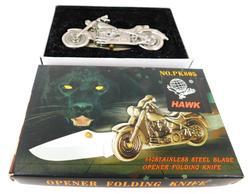 Harley Davidson Folding Knife with Opener