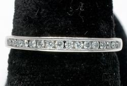 Channel Set Diamond Band Ring in White Gold