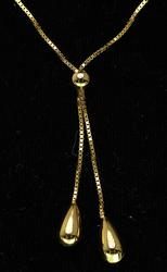 Tassel Necklace in Yellow Gold