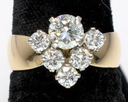 Incredible Custom Design 1.0CTW Diamond Ring in 14KT