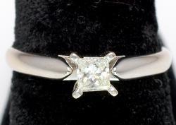 Princess Cut Diamond Ring in 14KT White Gold