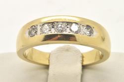 MENS 14 KT DIAMOND RING / BAND