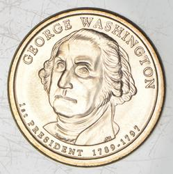 2007 George Washington Presidential Dollar - No Lettered Edge