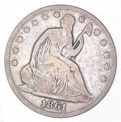1861 Seated Liberty Half Dollar