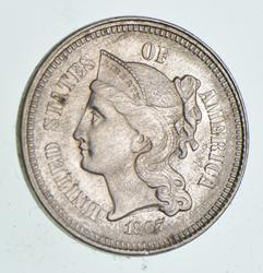1867 Nickel Three-Cent Piece