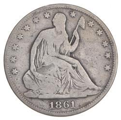 1861-O Seated Liberty Half Dollar - FED ISSUE R-6