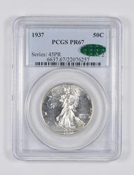 PR67 CAC 1937 Walking Liberty Half Dollar - Graded PCGS